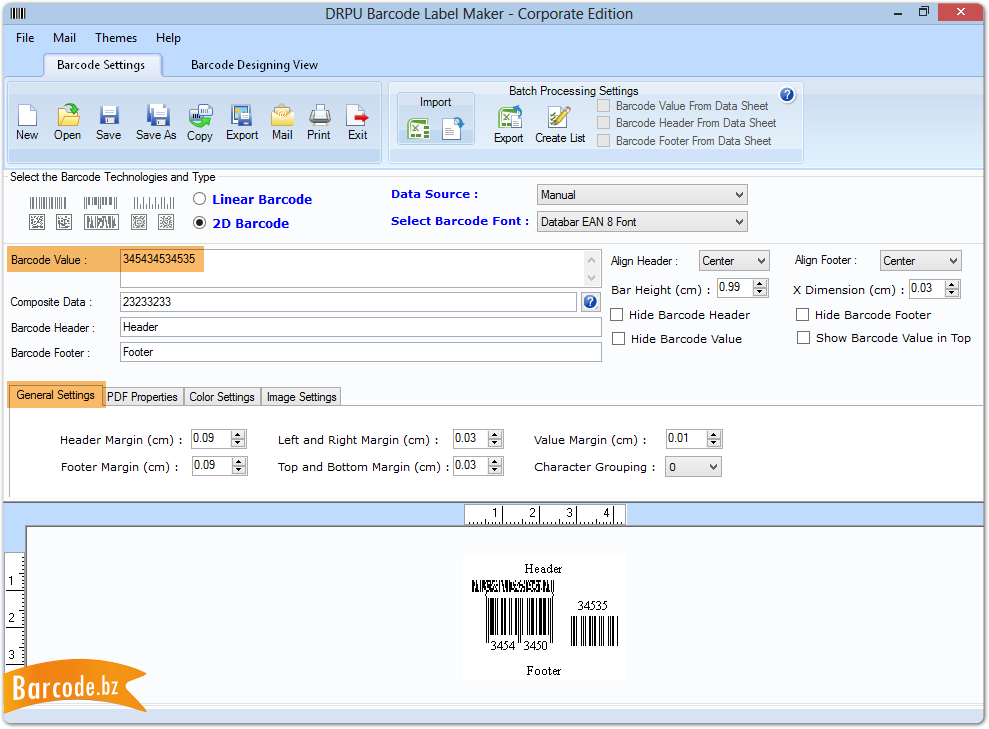 Barcode Generator Software - Corporate design customize labels and